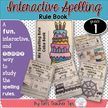 Interactive Spelling Rule Book for the Year ~ First Grade