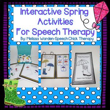 Interactive Spring Activities for Speech Therapy