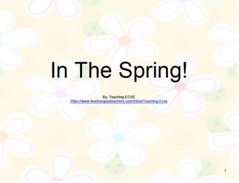 Interactive Spring Books (BUNDLE) - PRE-K / AUTISM