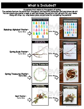 Interactive Spring Crafting Posters