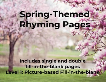 Interactive Spring Rhyming Level 1