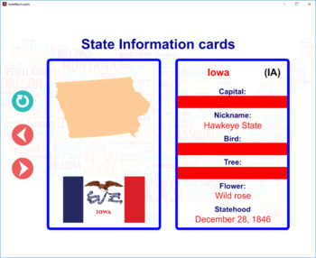 Interactive State Information Flashcards