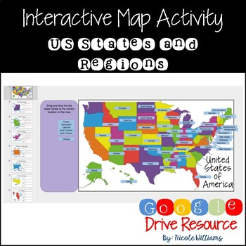 Interactive Map of the United States for Google Drive