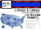 Interactive States and Capitals Practice for Google Slides