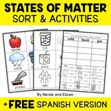 States of Matter Sort Activities