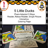 Interactive Story 5 Little Ducks Poem