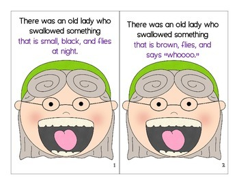 Interactive Story Books - There Was an Old Lady Who Swallowed a Bat