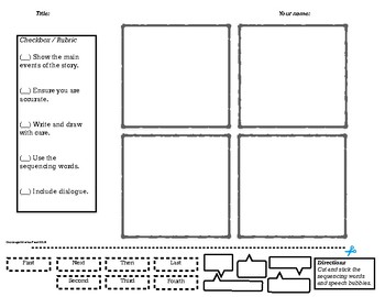 Interactive Story Cartoon Grid For Fun Graphical Story Telling!