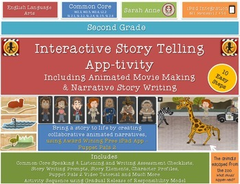 Interactive Story Telling, Writing & Movie Making iPad App-tivity {2nd Grade}