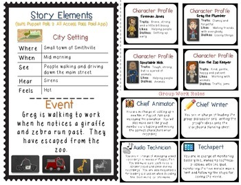 Interactive Story Telling, Writing & Movie Making  iPad App-tivity {3rd Grade}