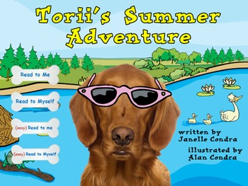 Interactive Storybook and Whiteboard Activity - Torii's Summer Adventure