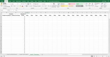 Interactive Student Data/Attendance Workbook