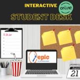 Interactive Virtual Student Desk with Clickable Objects (BITMOJI CLASSROOM)
