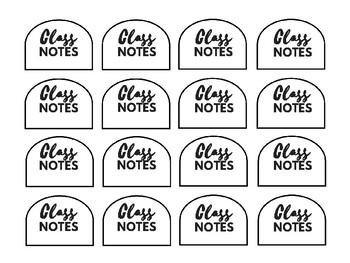 Interactive Student Journal Labels