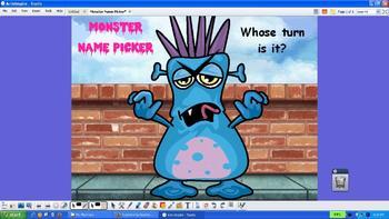 Interactive Student Name Picker Promethean ActivInspire Flipchart