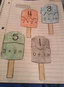 Interactive Student Notebook Addition Fluency (ISN)