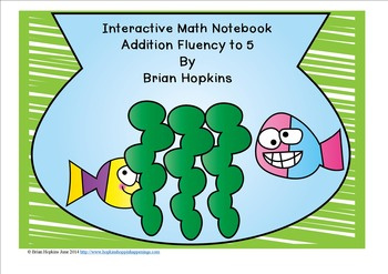 Interactive Student Notebook Addition Fluency (ISN)