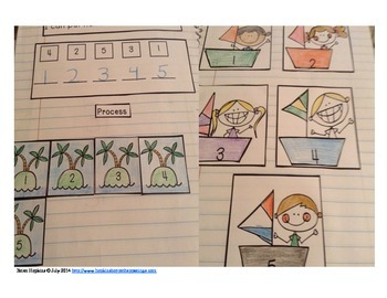 Interactive Student Notebook Numbers to 5 Unit (ISN)