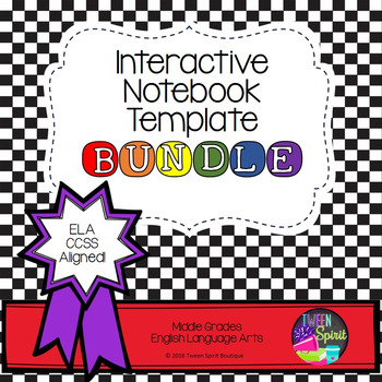 Interactive Student Notebook Templates: ELA BUNDLE!