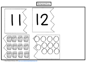 Numbers 11 and 12 Interactive Student Notebook FREEBIE