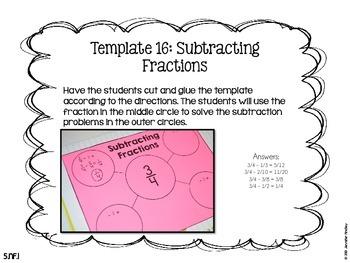 Math Interactive Notebook {Fractions}