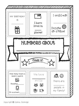 Interactive Student Notebook - Math - Organization Printables