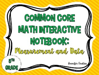 Math Interactive Notebook {Measurement and Data}
