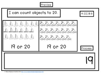 Interactive Student Notebook Numbers to 20