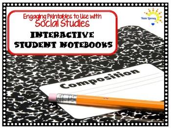 Interactive Student Notebook Printables Social Studies (ISN) SAMPLE
