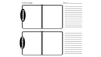 Interactive Student Notebook Teacher Planning Template