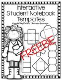 Interactive Student Notebook Templates {FREEBIE} - Editable
