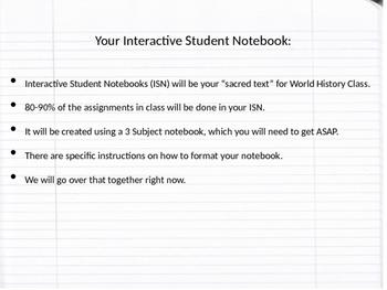 Interactive Student Notebooks