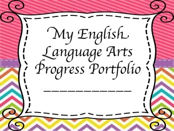 Interactive Student Progress Portfolio - Grade 5 English Language Arts