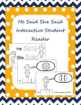 Interactive Student Reader - He Said She Said