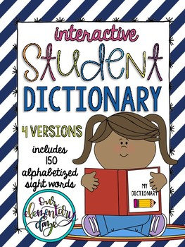 Interactive Student Vocabulary Book/Dictionary