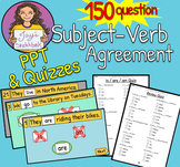 Interactive Subject-Verb Agreement PPT Quizzes