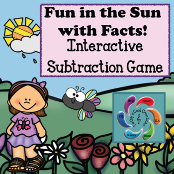 Interactive Subtraction Game Google Slides-Fun in the Sun distance learning