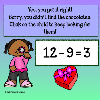Interactive Subtraction Game-Valentine Village