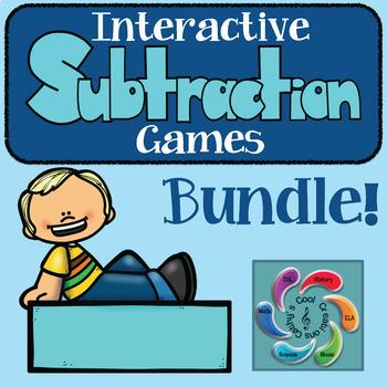 Interactive Subtraction Games Mega Bundle!! - distance learning