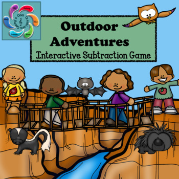 Interactive Subtraction Games for Google Slides/Adobe Reader-Outdoor Adventures