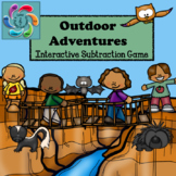 Interactive Math Game (Subtraction) Google Slides/PDF Outd
