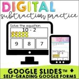 Interactive Subtraction Google Slides + Google Forms | Sel