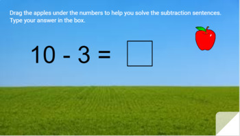 Google Classroom- Math Centers:Interactive Subtraction with apples