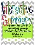 Interactive Summary for Grades 3-6: Teach Summarizing all year with this guide!