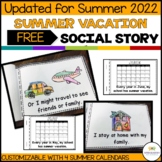 Interactive Summer Break Social Narrative for Students with Autism (Special Ed)
