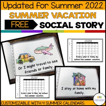 Interactive Summer Break Social Narrative for Students wit
