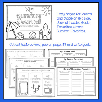 Interactive Summer Journal w/ Summer Themed Prompts - Student Gift Option Too