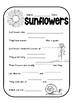 Interactive Sunflower Lapbook