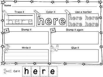 Interactive Super Sight Words {Pre-Primer}