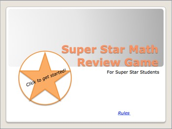 Interactive Super Star Math Review Game